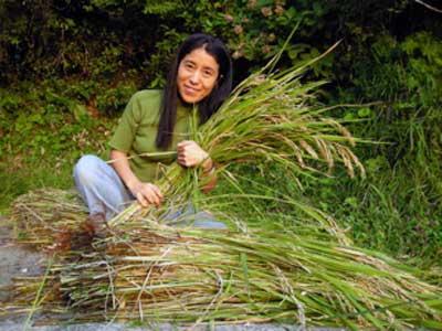 Yumi with rice  JPG
