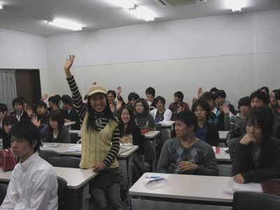 早稲田大学で911の講演のJPG